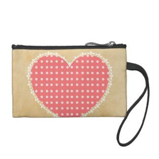 Hearts themed coin purse
