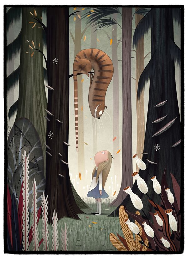 Alice in Wonderland by Yuo Tengara, via Behance