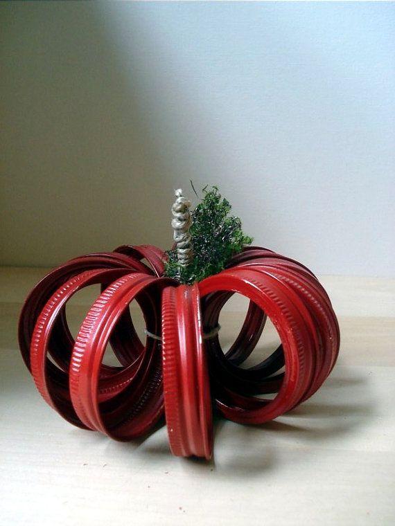 Upcycled Mason Canning Jar Lid Apple jar band by MyWhimsicalLily