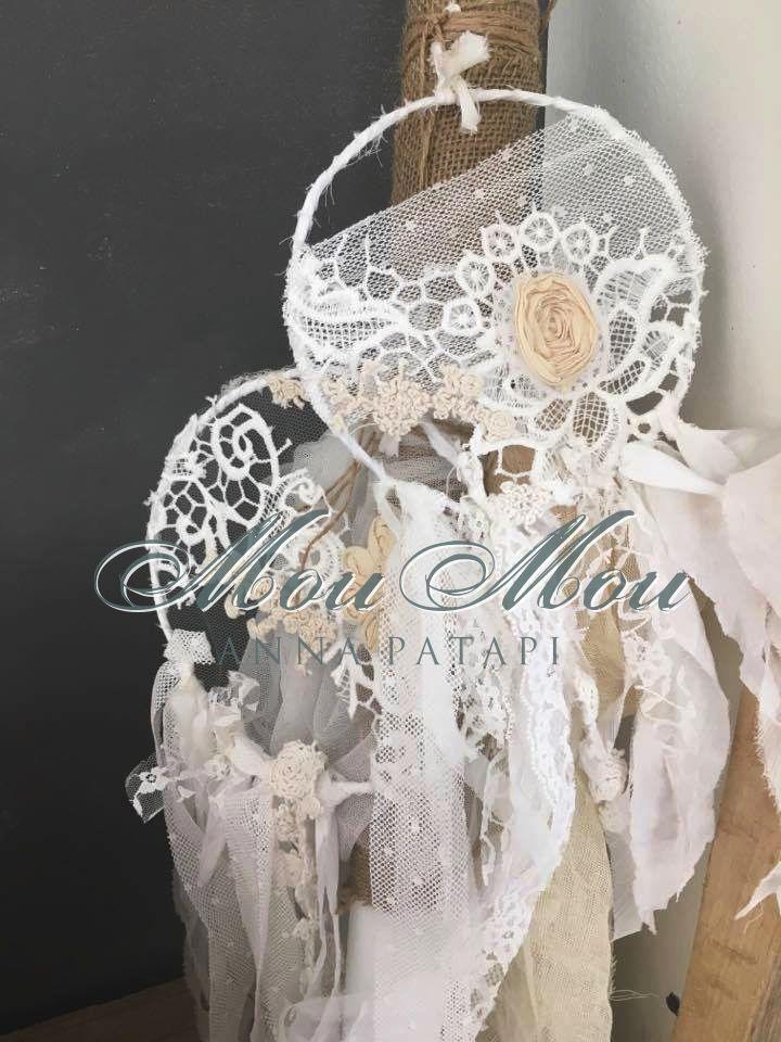 Λαμπάδα βάπτισης με ονειροπαγίδεςκαι υφάσματα σε εκρού και μπεζ. Baptism candle with handmade dream catchers and fabric. #annapatapi #moumou2017 #vintage #romantic #Moumounewcollection #specialoccasions #childrenswear #Official #Nursery #outfit #wedding #dress #romanticweddingdress #επίσημο #παιδικό #ρούχο #γάμος #νυφικό #αγόρι #κορίτσι #boy #girl #baby #βάπτιση #βαπτιστικά #ρομαντικό #φόρεμα
