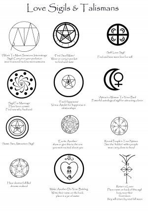 Love Sigils and Talismans - the last few are NOT to be used, only here because it'd be good to spot someone else using them. Especially the last two, dear goddess... -  - Pinned by The Mystic's Emporium on Etsy