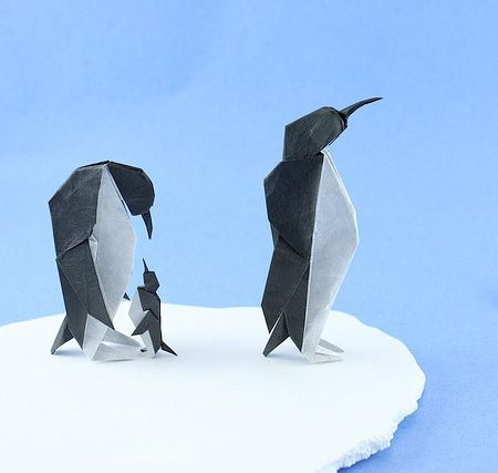 Origami - Penguins | Origami Animals, Pets, Birds, & More ... ----- @Popgazine--