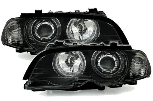 Angel-EYES-phares-set-avec-anneaux-blancs-pour-3er-BMW-e46-Coupe-Cabrio-MCP