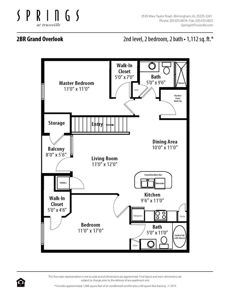2 Bedroom 2 Bath 1112 Sf Apartment At Springs At Trussville In Birmingham Al This Apartment