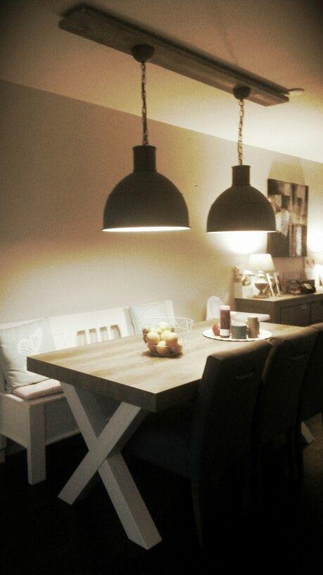 Creatief met steigerhout en hanglampen