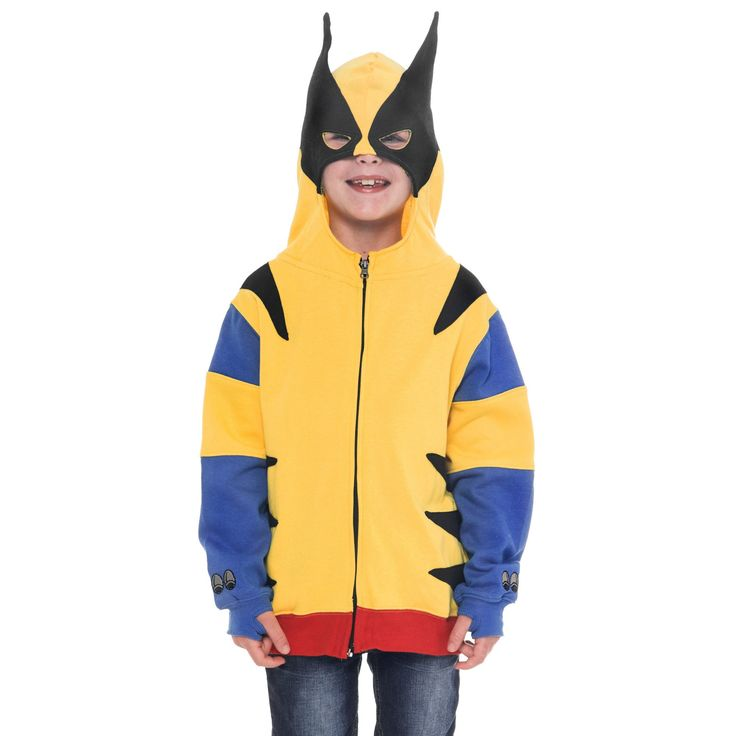 Marvel's Wolverine Boys Costume Hoodie Jacket with Mask