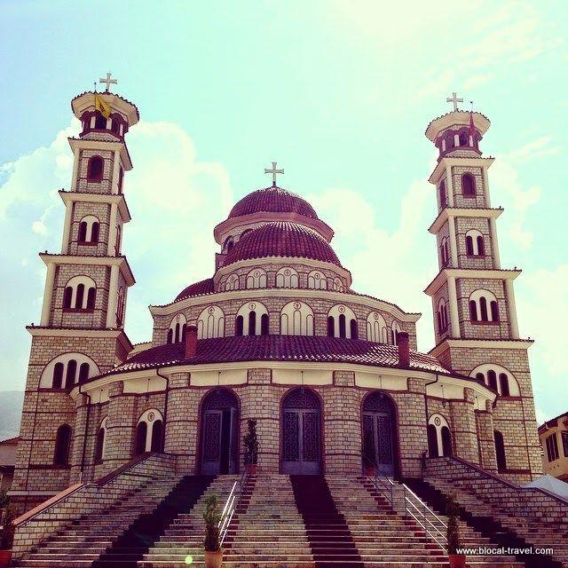 Korça, Albania. Cattedrale Ortodossa 'Resurrezione di Cristo'