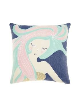 KIDS CUSHIONS MERMAID DREAMING BLUE CUSHION 40 X 40CM