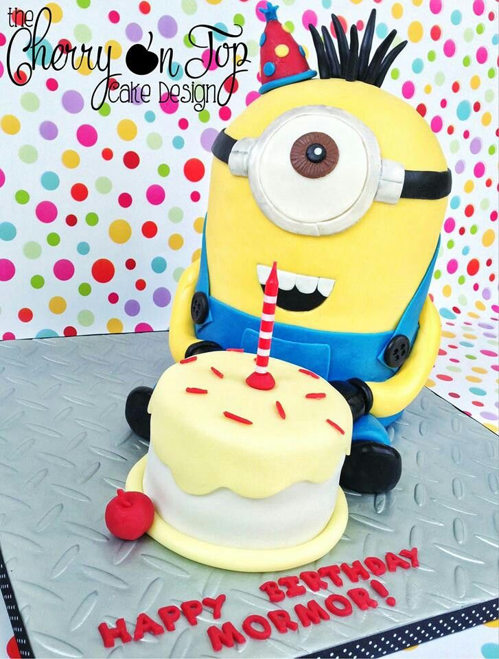 377 best party with despicable me images on pinterest coloring pages birthday cakes and - Cake decorations minions ...