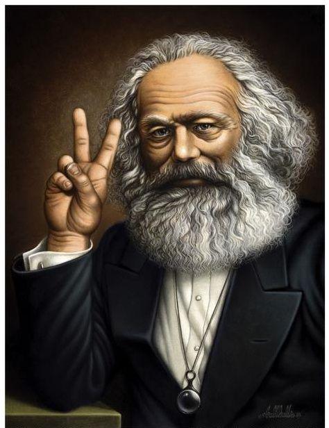 Divertente immagine di Marx