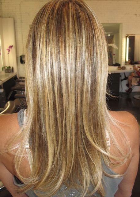 highlights - caramel/honey hair