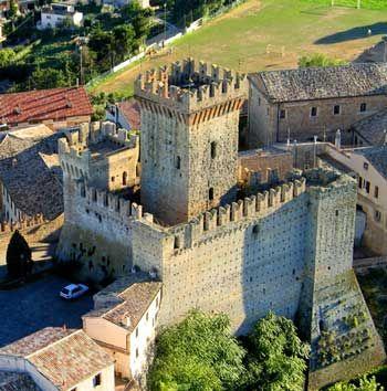 Rocca di Offagna, Ancona, Marche, Italia.