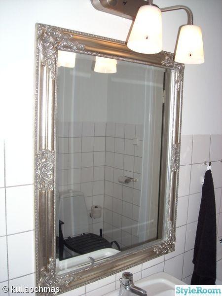 spegel,silver,svart,vitt,badrum