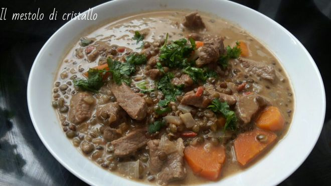 #lenticchie al #lattedicocco e #curry