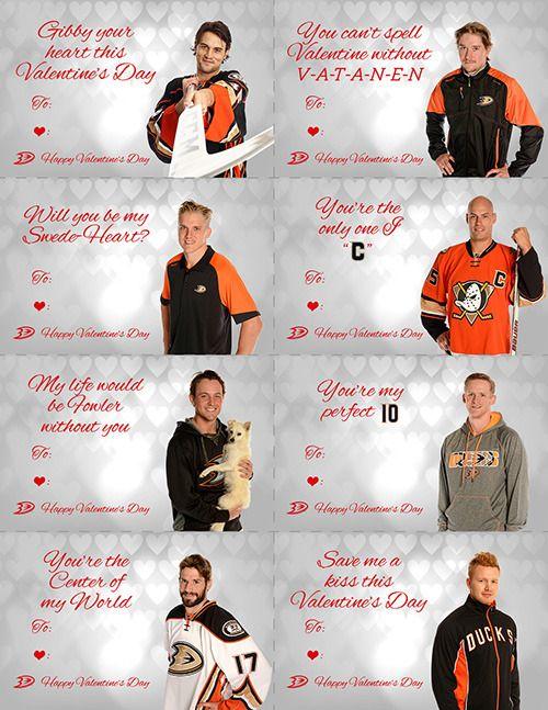 Ducks Valentines - Anaheim Ducks