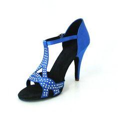 Chaussures de danse  - Femmes Satin Talons Sandales Latin Salle de bal Fête avec Strass Lanière en T Chaussures de danse  http://fr.dressfirst.com/Femmes-Satin-Talons-Sandales-Latin-Salle-De-Bal-Fete-Avec-Strass-Laniere-En-T-Chaussures-De-Danse-053026453-g26453