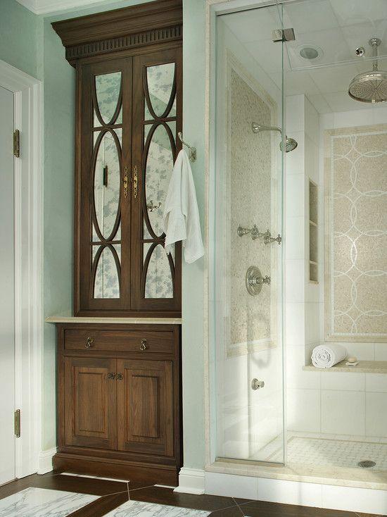 Built In Bathroom Vanity Ideas: Built In Linen Closet In Bathroom....