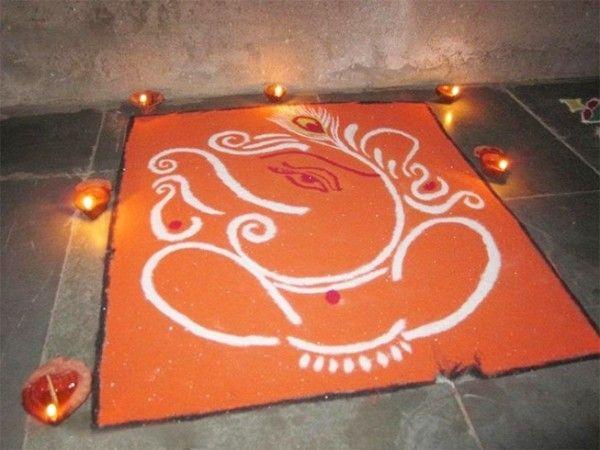 Ganesh rangoli