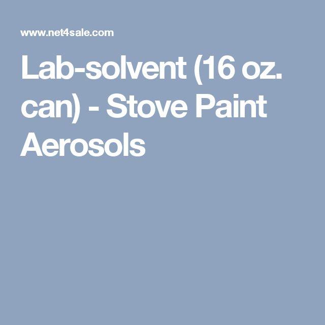 Lab-solvent (16 oz. can) - Stove Paint Aerosols