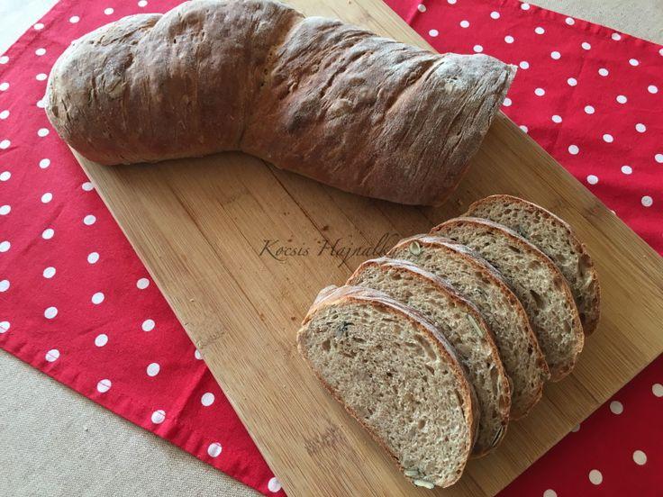 Dagasztás nélküli kenyér, teljes kiőrlésű lisztből | mókuslekvár.hu