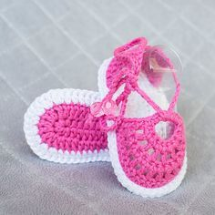 Crochet Sandals Crochet Baby Girl Sandals by DaisyNeedleWorks ♡