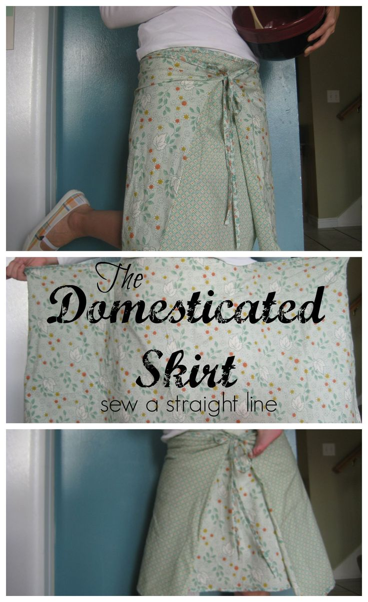 Tutorial for a super easy and quick skirt. Like a reversible wrap skirt. From Sew a Straight Line
