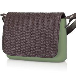 Brown Braided Flap - O Pocket accessory Shoulder Bag