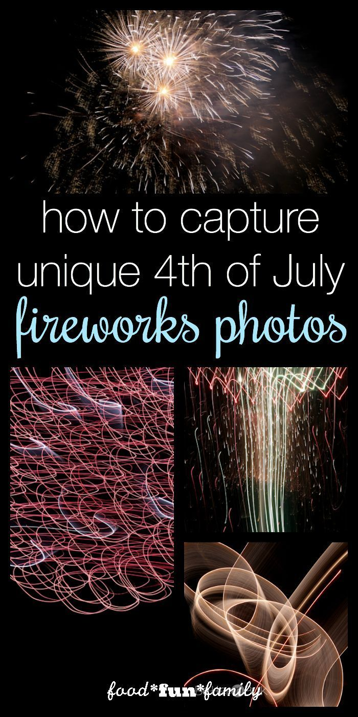 How to capture unique 4th of July fireworks photos. I call it painting with fireworks and it's easier than you might think!