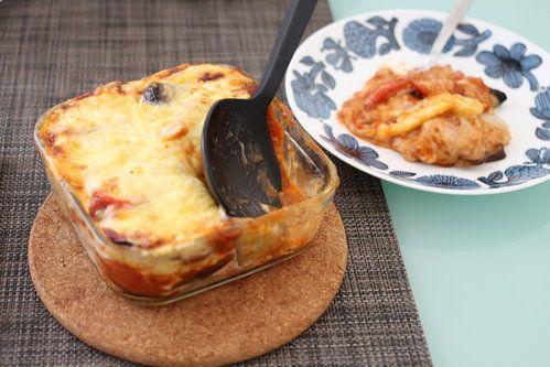 餃子の皮を利用!ボジョレーにぴったり!「なすとトマトのラザニア」の作り方 | nanapi [ナナピ]