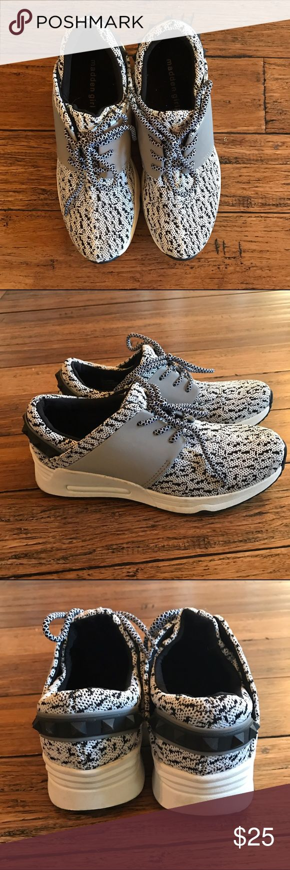 Madden girl athletic shoes 6.5 Madden girl shoes size 6.5. Very cute, just fit too large for my feet! Have been only worn once to a store before deciding they weren't for me! Very cute. Fashion sneakers/athletic shoes/tennis shoes. Madden Girl Shoes Athletic Shoes