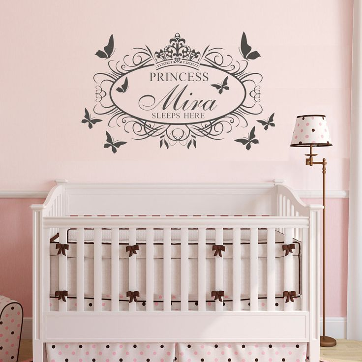 wall painting crown / tiara princess style. it's a wall sticker you can buy it on :