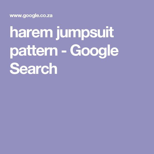 harem jumpsuit pattern - Google Search