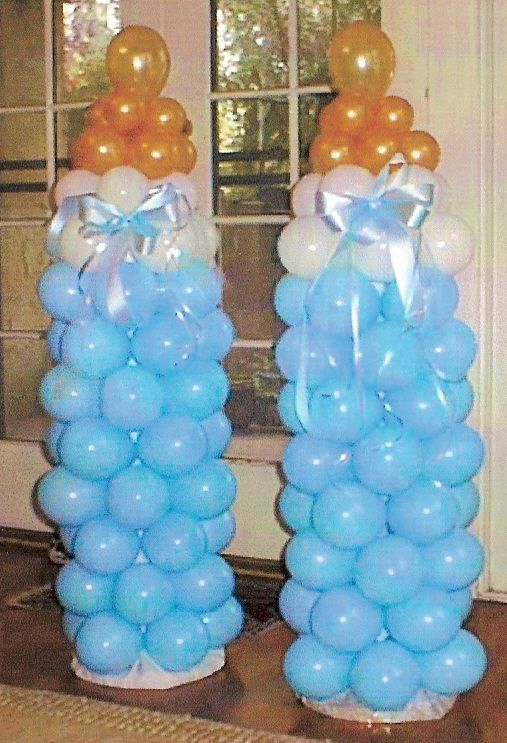 This would be cool at a baby shower, change blue to pink for girl!
