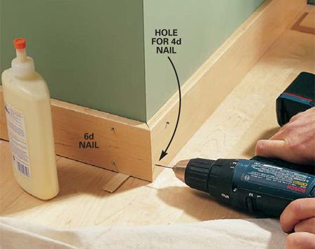 How to install new baseboard. Since we need to do a lot of this, I might as well pin it.