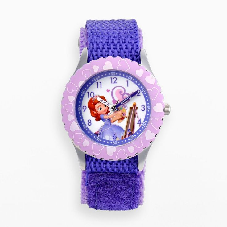 Disney's Sofia the First Kids' Time Teacher Watch, Adult Unisex, Purple