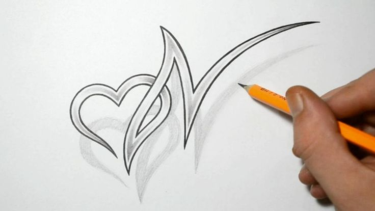 letter n and heart combined tattoo design ideas for initials drawing pinterest jade. Black Bedroom Furniture Sets. Home Design Ideas