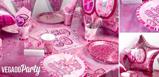 Decorazioni Compleanno rosa su VegaooParty