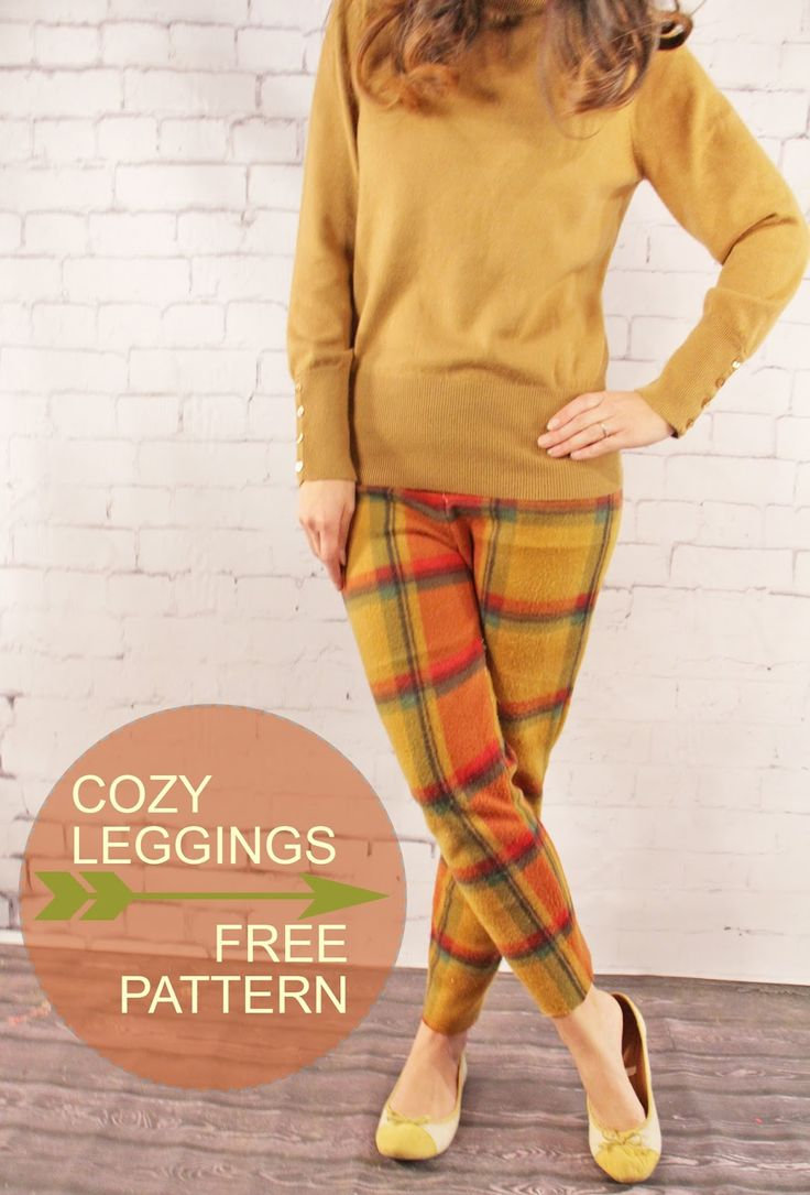 View details for the project Fall Tartan: Cozy Fleece Leggings Free Pattern on BurdaStyle.