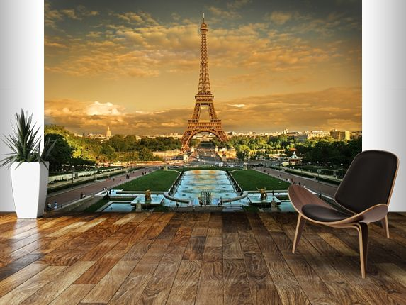 11 best images about cityscape wall murals on pinterest for Eiffel tower wallpaper mural