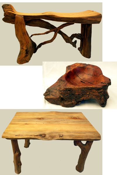 Rustic Furniture And Art By Jim    Native Wood Handcrafted Table, Chair,  Bench