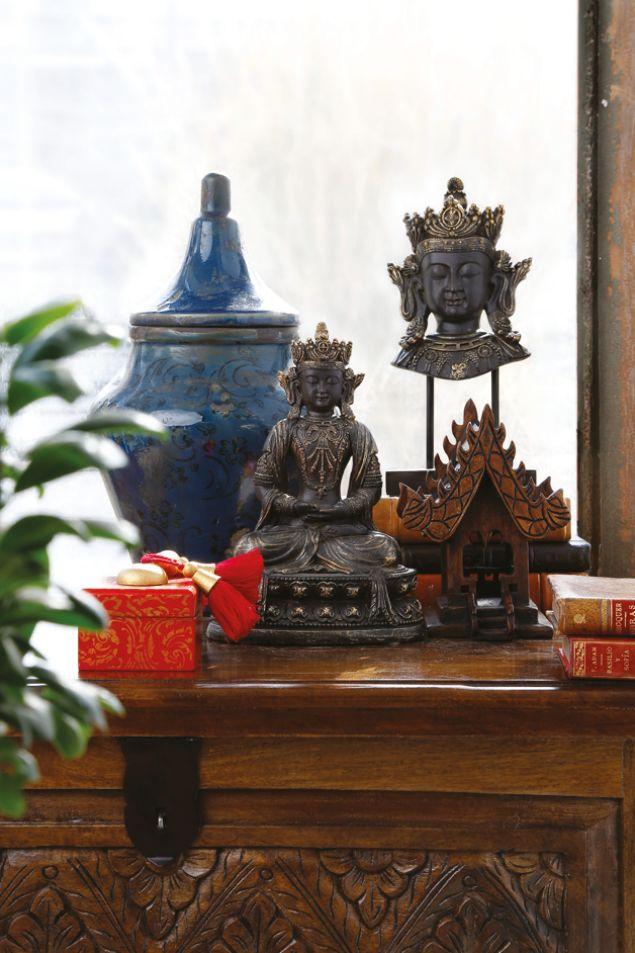 Las texturas tribales y el #budismo integrados en una decoración #thai, traerán buena energía a tus espacios.  #Home #Energy #Buda #Deco #Home #Easy #easytienda #tiendaeasy