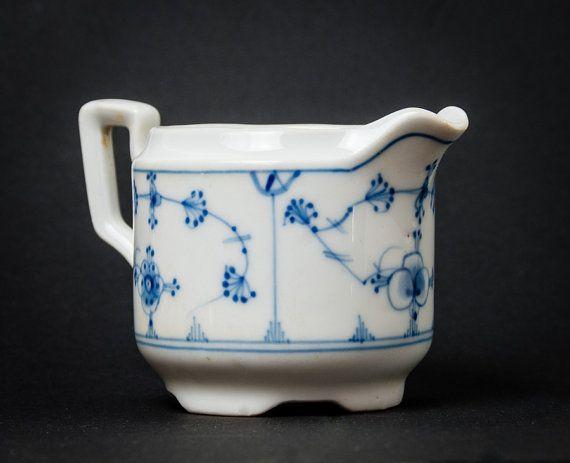Old Coffee Creamer Porsgrund Porcelain  Bogstad by Scandifinds