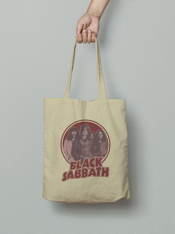 Black Sabbath Tote Bag Market bag Fabric grocery bag by ExileWear