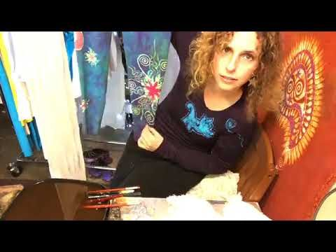 Painting Handmade Scarves With Beeswax For Batik