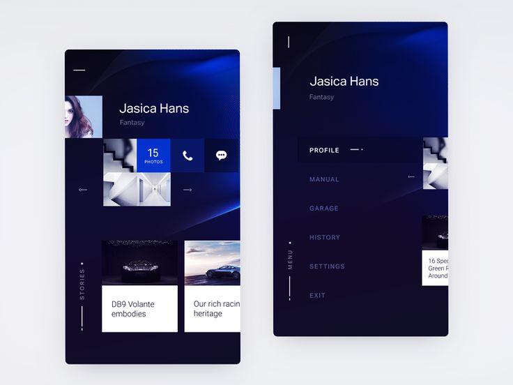 Aston Martin UI exploration for iOS app