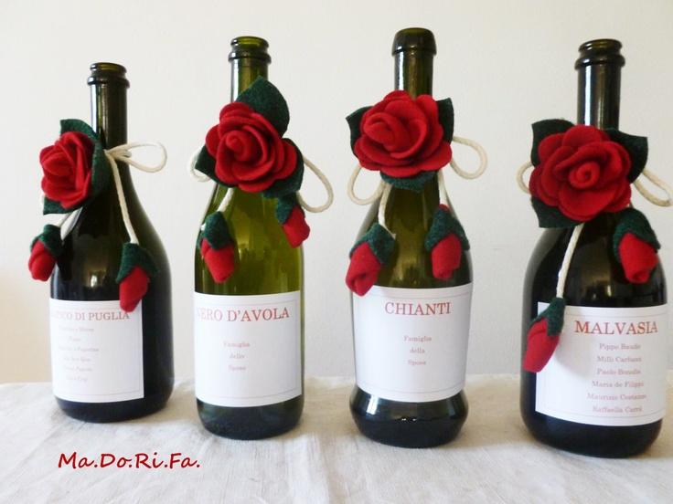 Tableau de marriage con bottiglie di buon vino