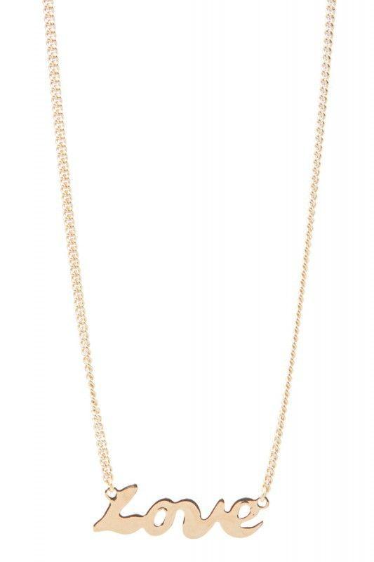 Tomshot Halskette mit Love-Pendant. www.styleserver.de