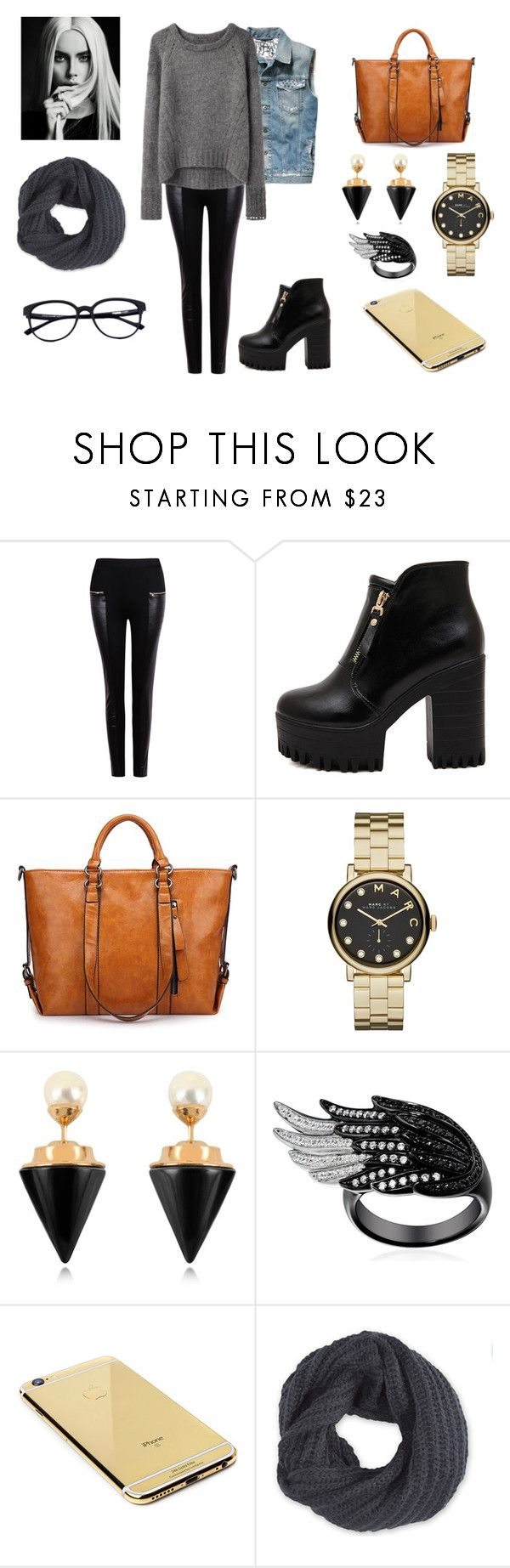 """""""*)"""" by dragan-2001 on Polyvore featuring мода, Pepe Jeans London, Marc by Marc Jacobs, Vita Fede, Goldgenie и Frenchi"""