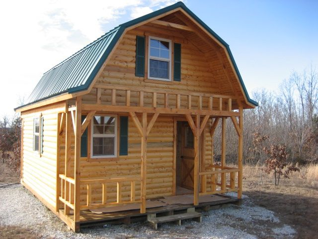 I will make a two story shed outbuildings pinterest for Lowes cabins kits