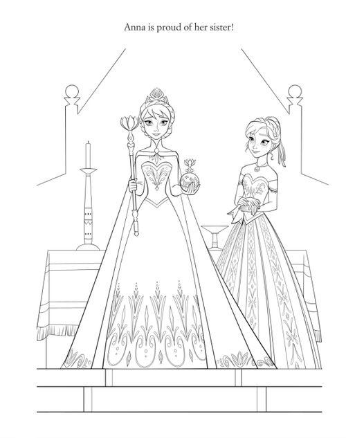 Frozen Coloring Pages Elsa Coronation : Disney frozen coloring sheets official